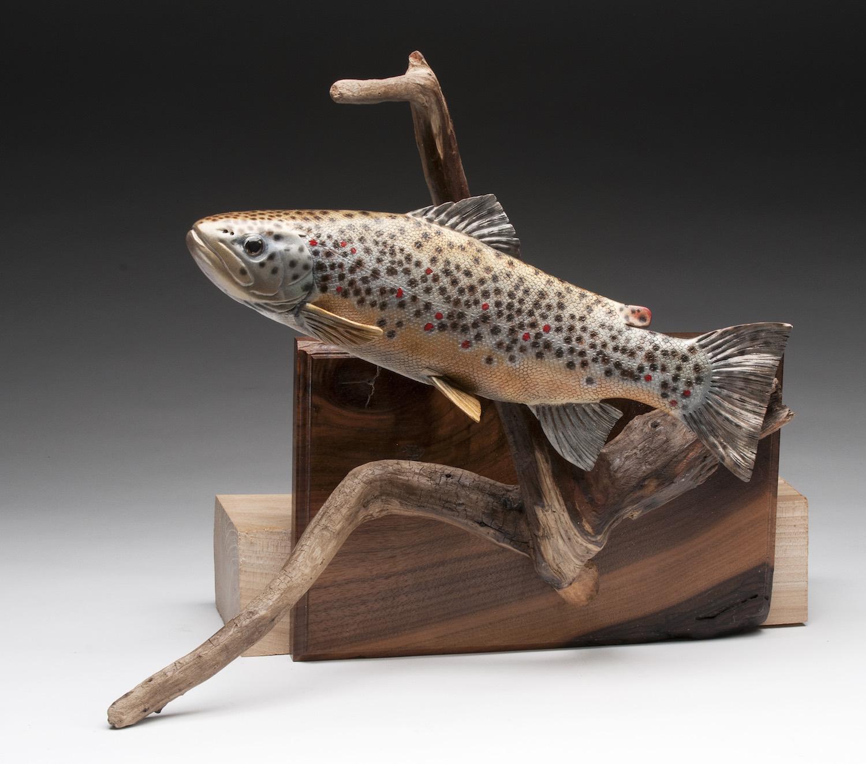 PCC2017- 2nd Best of Show Novice - Dennis Brown walnut brown trout