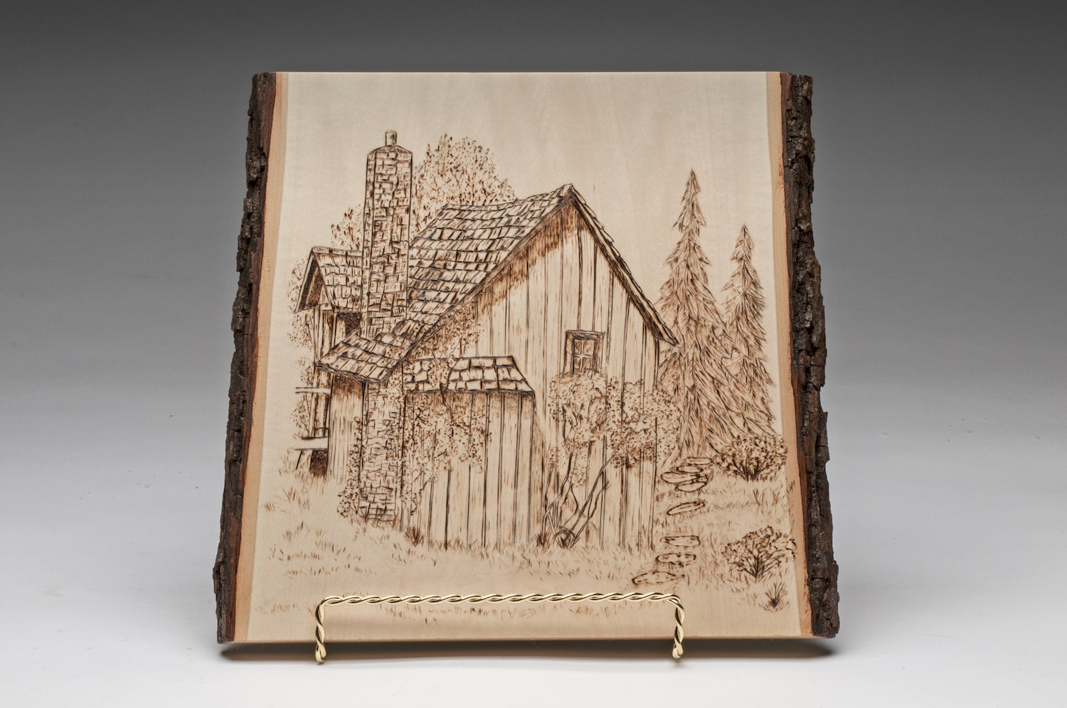 PCC2017- 3rd Best of Show Novice - Louise Reilly memory home pyrography