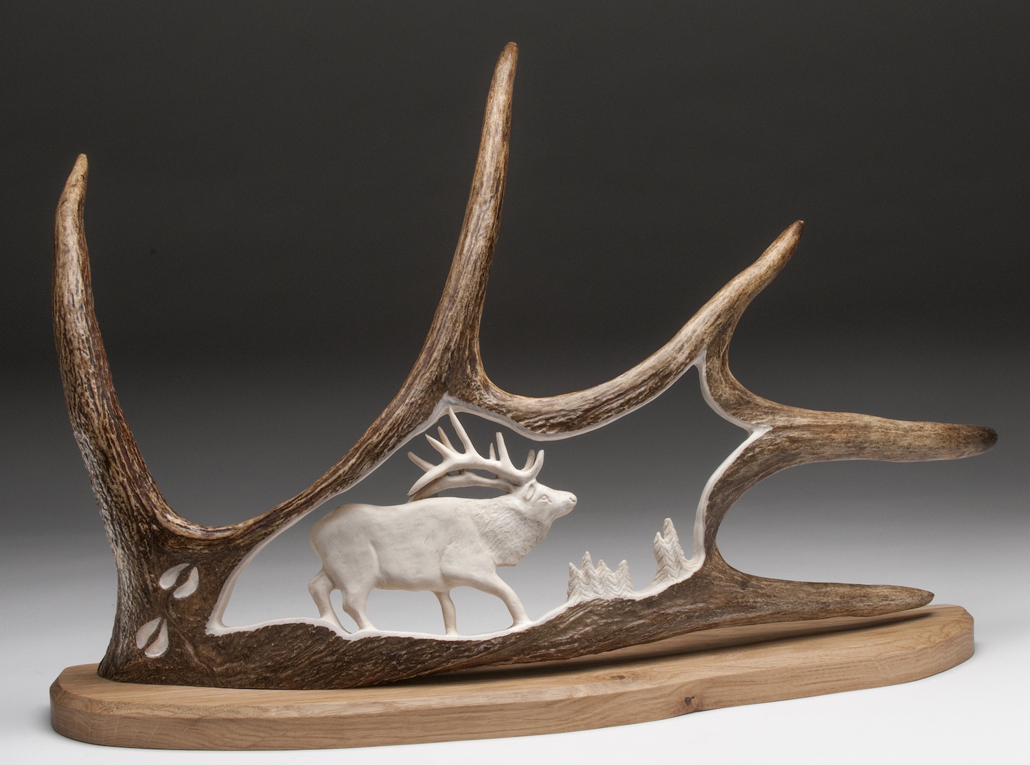 2018 Open 2nd Best of Show - Ray Minaudier - bull elk